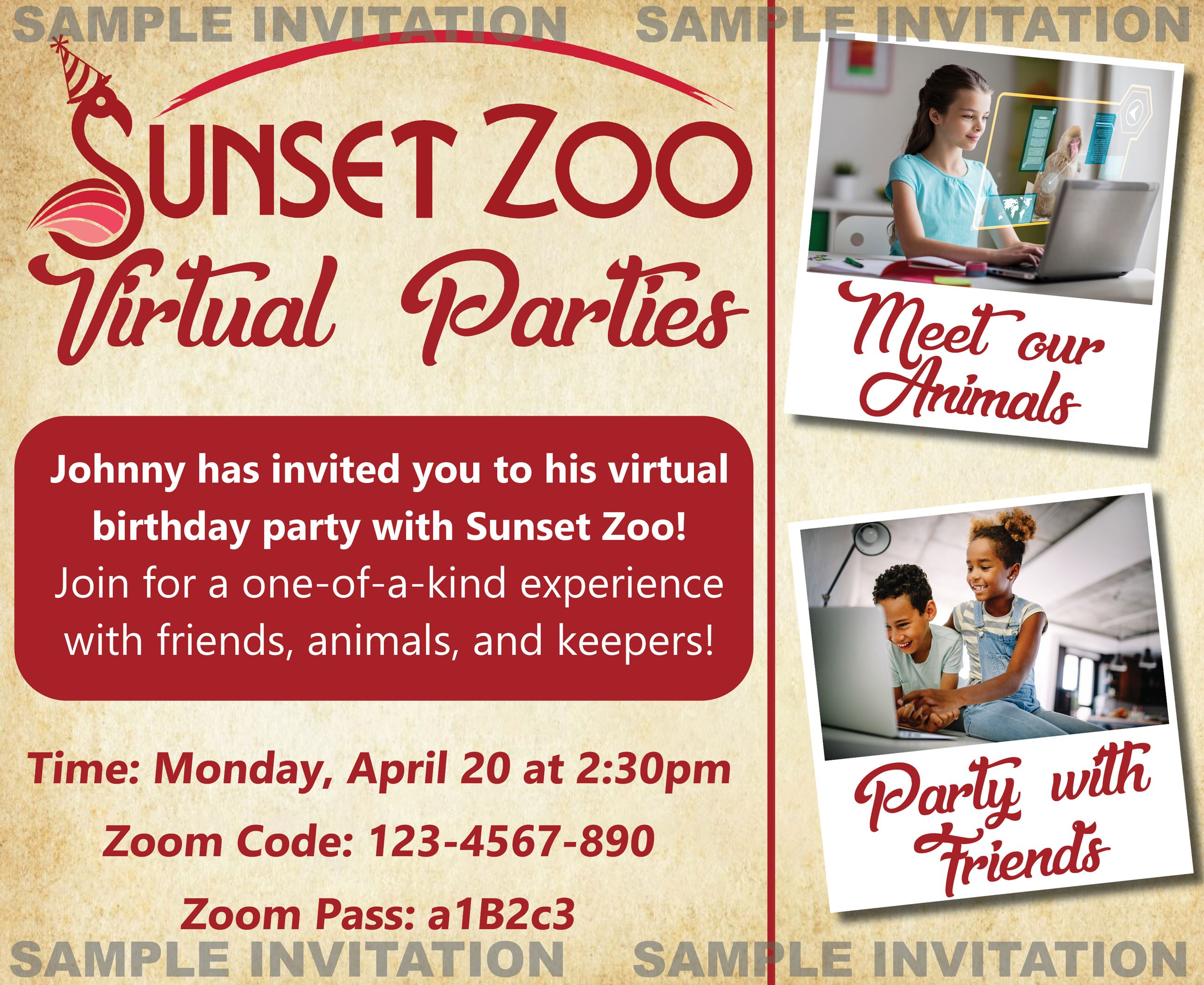 Virtual Birthday Parties   Sunset Zoo, KS - Official Website